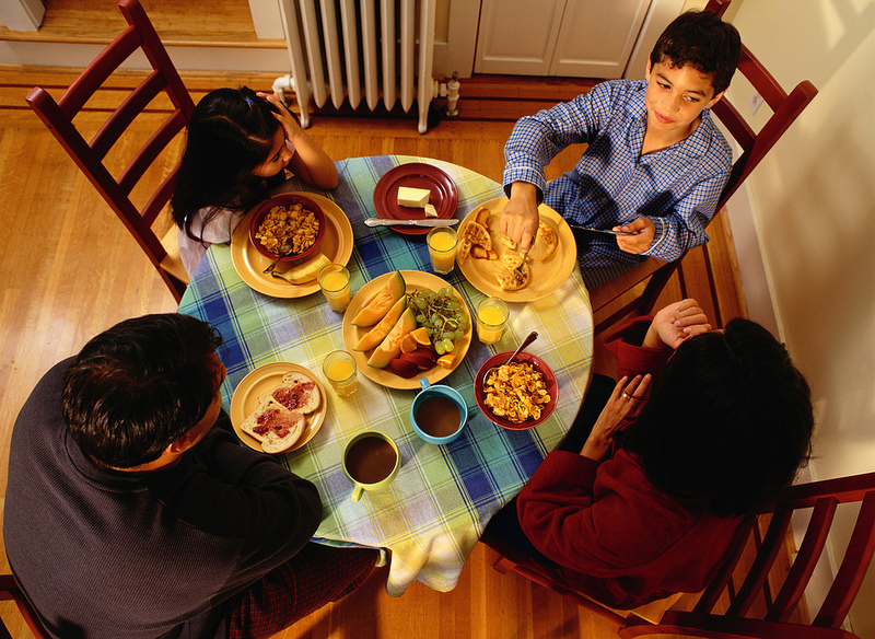 family nutrition means eating together