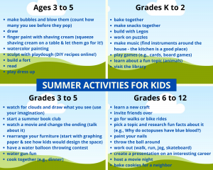 Support your child's mental health and schedule fun activities